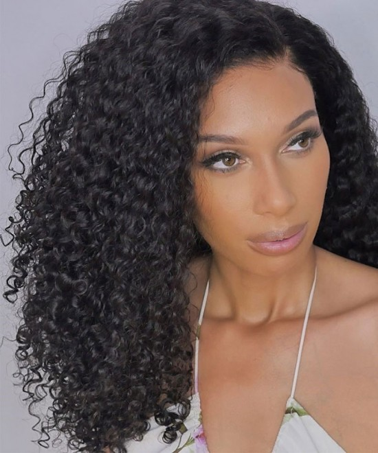 Deep Wave 13X6 Lace Front Wigs With Fake Scalp