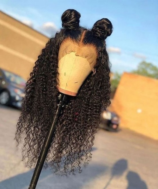 Kinky curly hd lace wigs for women with baby hair