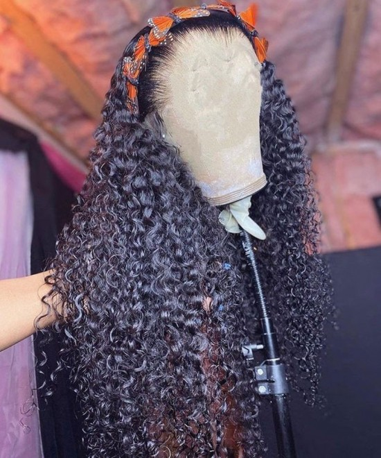 Deep Curly Human Hair Lace Wigs For Women On Sale