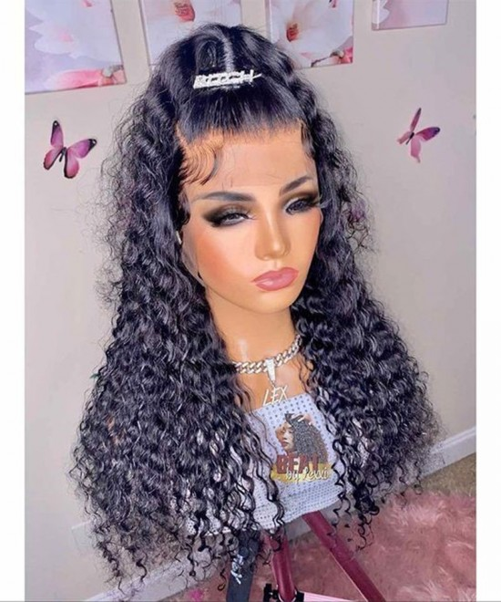 Loose Curly Lace Front Human Virgin Hair Wigs Flash Sale