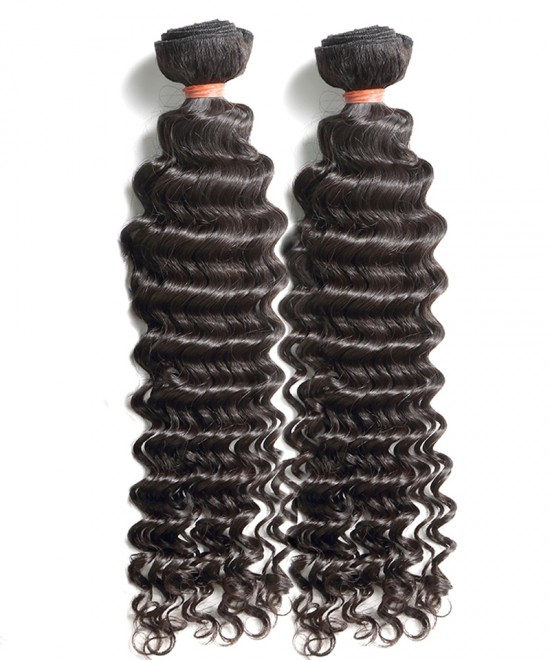 Dolago Deep Wave Brazilian Virgin Hair Human Hair Extensions 2 Bundles