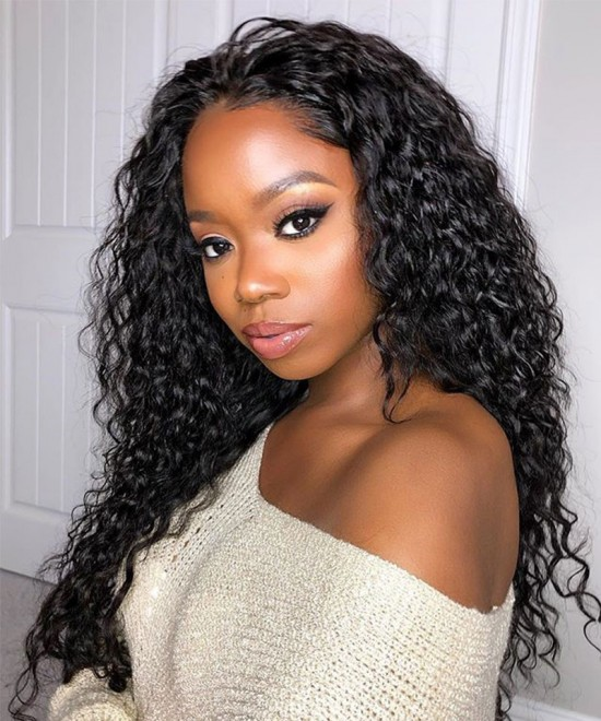 Deep Wave 250% High Density 13x6 Lace Front Wigs For Sale