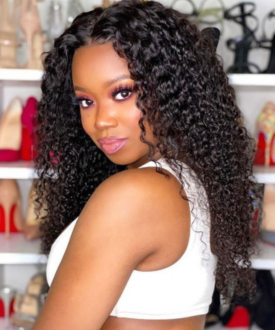 Deep Curly 13X2 Lace Front Human Hair Wigs Curly Lace Front Wigs