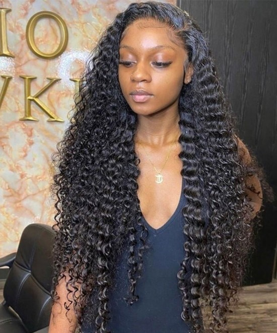 Dolago Wigs Silk Base Full Lace Wig Deep Wave Silk Base Wigs For Black Women 180% Density Realistic Wigs Full Lace Human Hair Wigs With Baby Hair Pre-Plucked