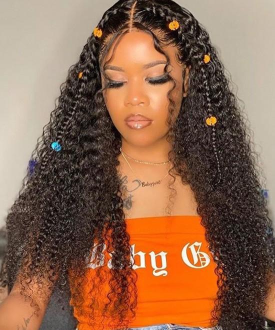 Mongolian Kinky Curly U Part Human Hair Wigs For Women