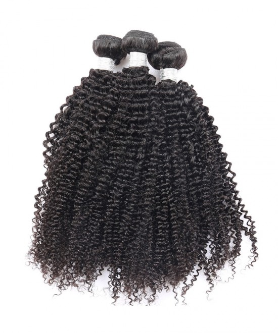 Dolago Kinky Curly 100% Human Hair Bundles Natural Color