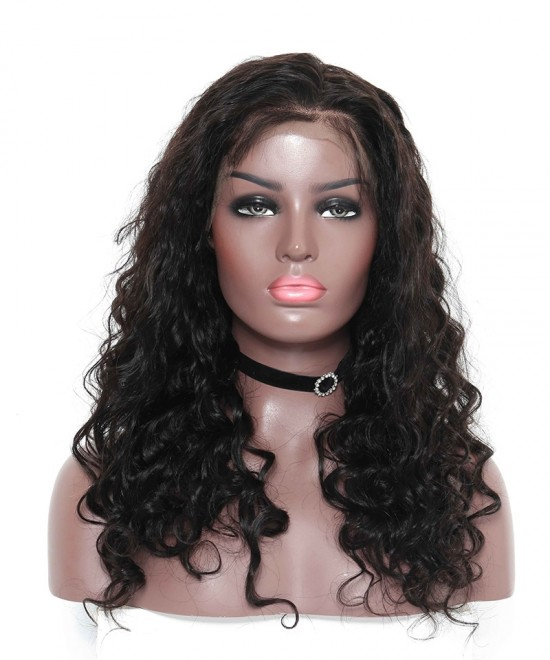 Brazilian Loose Wave Lace Front Human Hair Wigs 300% Density