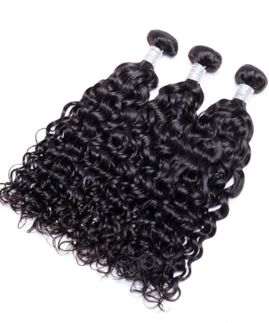 Dolago 3 Pcs Brazilian Hair Weave Bundles Wet and Wavy Human Hair