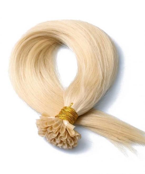 "100% 16""-24"" Brazilian Human Hair Extensions Capsule Keratin Stick I Tip Hair Fusion"