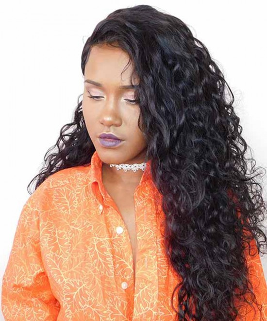 Water Wave 250% High Density Lace Front Wigs For Women