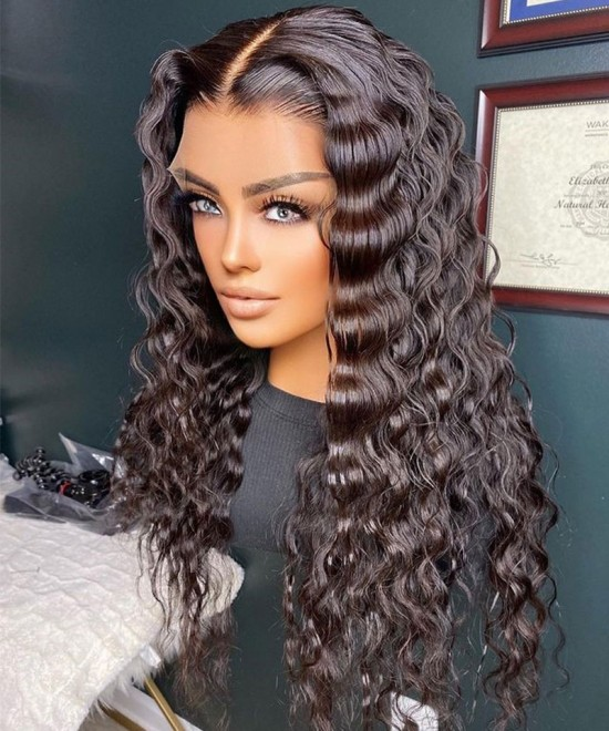 Loose wave invisible knots hd lace front wigs