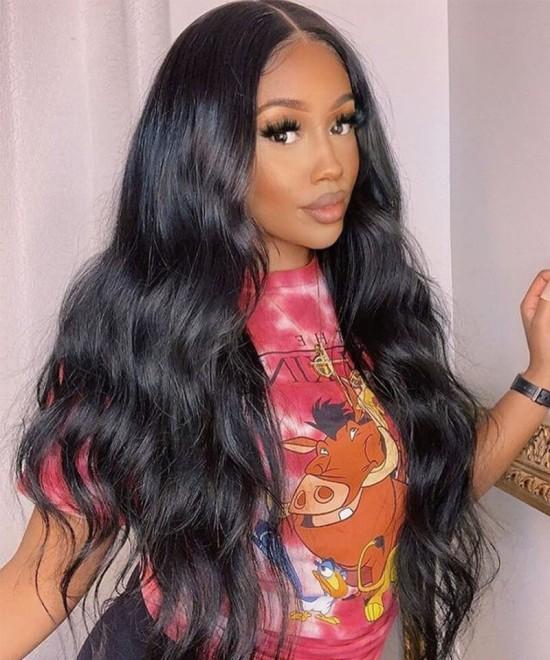 5X5 HD Lace Closure Human Hair Wigs For Black Women