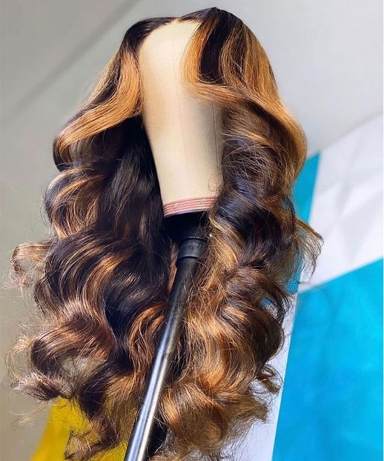 T Part Ombre Wigs Body Wave 250% Density