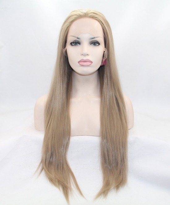 Dolago Ash Blonde Straight Synthetic Wig For Black Women