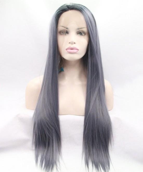 Dolago 1B/Grey Ombre Wig Straight Synthetic Wig
