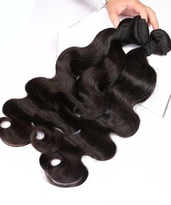 Dolago Brazilian Virgin Hair Body Wave 2 Pcs 100% Unprocessed Human Hair Bundles