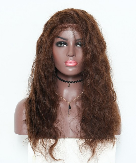 Dolago Body Wave 250% High Density Lace Front Human Hair Wigs Medium Brown