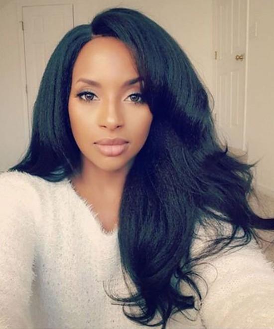 Best Light Yaki Full Lace Human Virgin Hair Wigs For Women