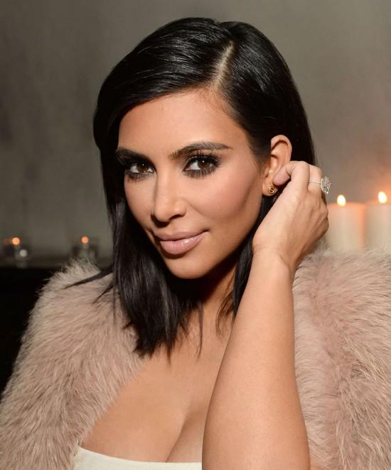 Kim Kardashian Black Short Straight Style Lace Wig