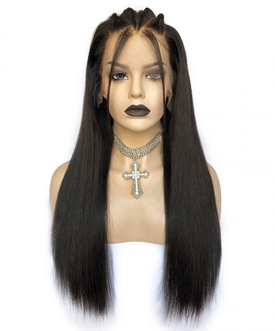 Kinky Straight Hair Wigs 13X2 New Lace Part Human Hair Wigs For Black Women