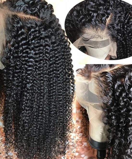 Kinky Curly Human Hair Wigs For Black Women