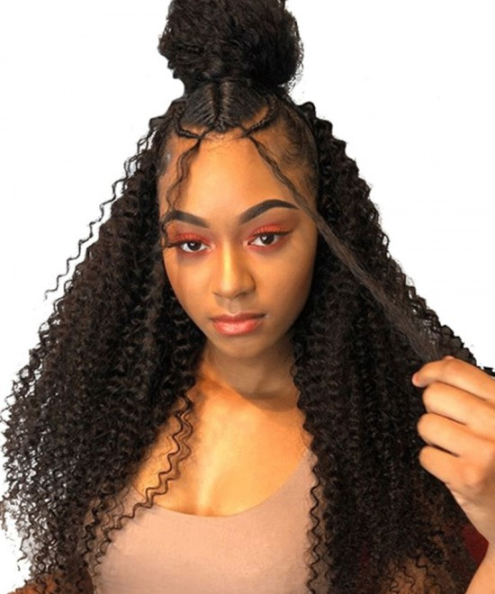 Dolago Hair Wigs Kinky Curly Full Lace Human Virgin Hair Wigs For Black Women 180% Density Full Lace Wig Pre Plucked With Baby Hair
