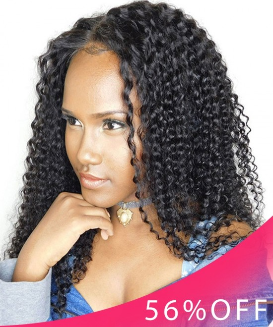 20 Inches Only $105 Dolago Limited Flash Sale Hair Wigs Kinky Curly Lace Front Human Hair Wigs 130% Density Curly Wig