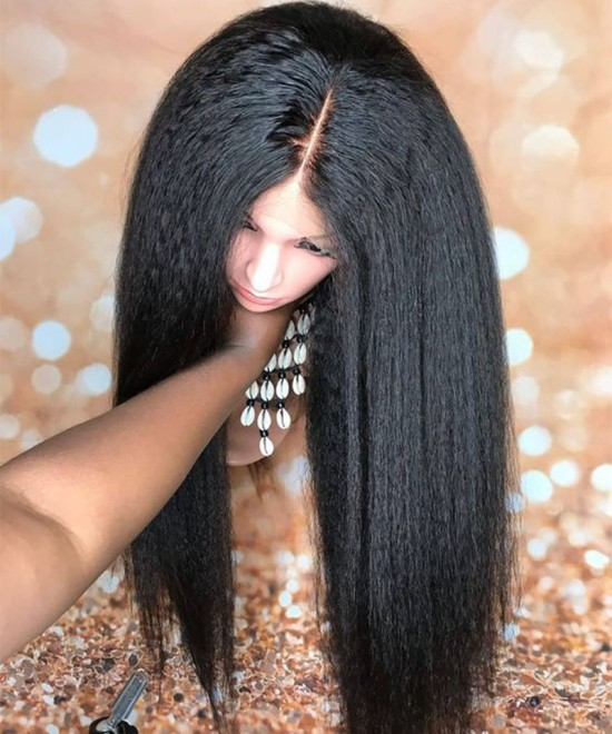 Dolago 5X5 HD Lace Closure Wigs Brazilian Kinky Straight Luxury Mink Closure Wigs 150% Density Glueless Lace Closure Human Hair Wigs For Black Women