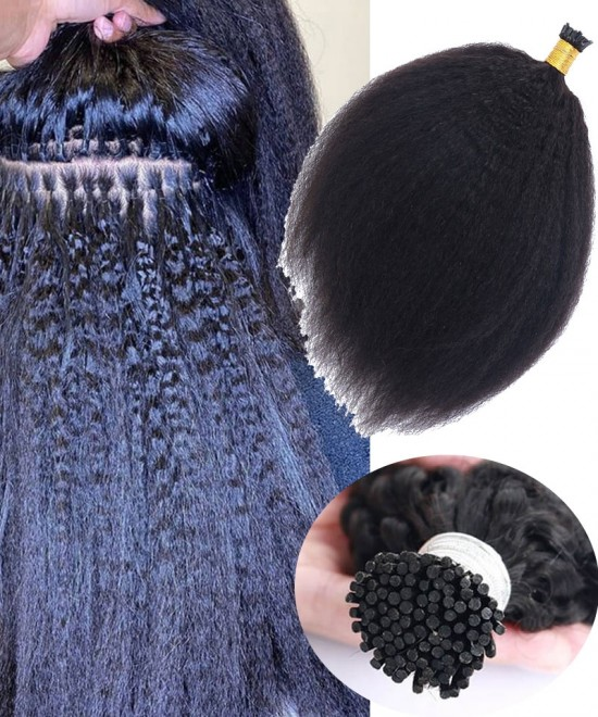 Kinky Straight Keratin Fusion Hair Extensions At Cheap Pirces