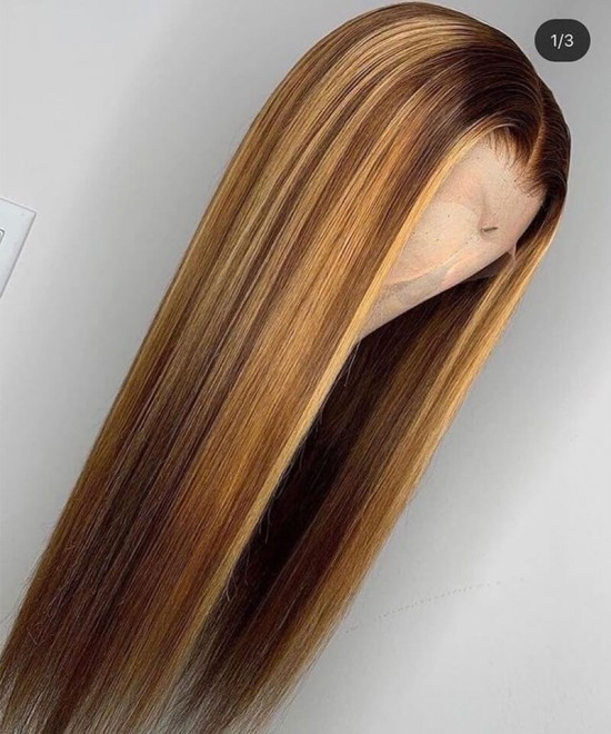 4/27 mixed color ombre lace front wigs for women
