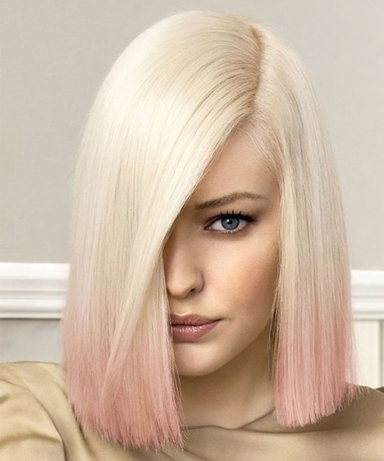 Dolago 10 A Pink Colorful Full Lace Wig With Baby Hair Straight Wave Full Lace Human Virgin Hair Wig 130% Density Pre Plucked