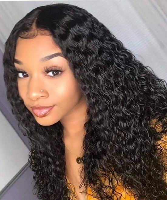 Dolago Hair Wigs Loose Curly Full Lace Human Virgin Hair Wigs For Black Women 180% Density Full Lace Wig Pre Plucked With Baby Hair With Removable Band