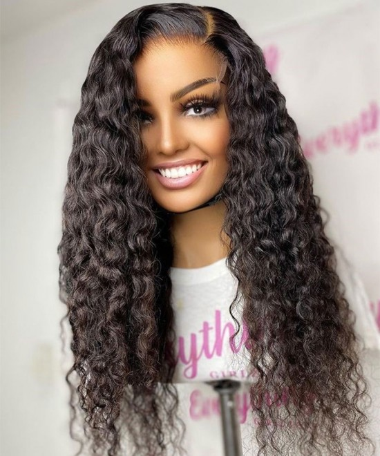 Silk Base Full Lace Wigs Deep Curly Wave