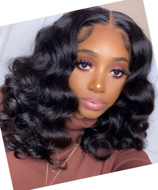 hd Swiss lace wigs with baby hair loose wave