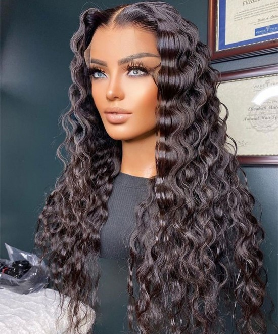 Lace Closure Wigs Loose Wave 4X4 Part Lace