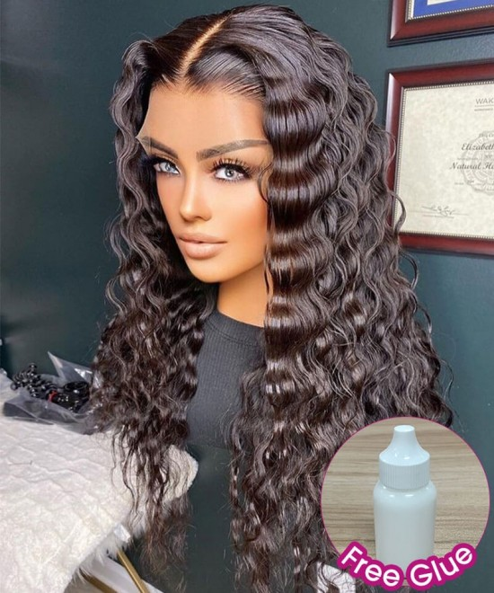 Loose wave invisible knots hd lace front wigs at cheap price