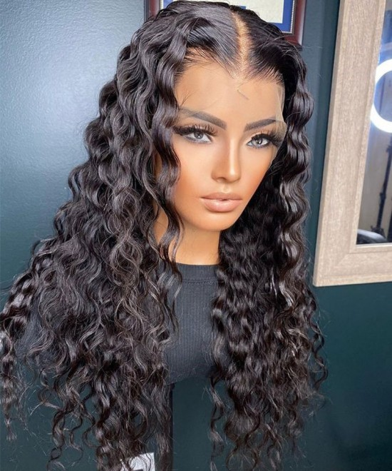 Brazilian loose wave invisible lace front human hair wigs for sale