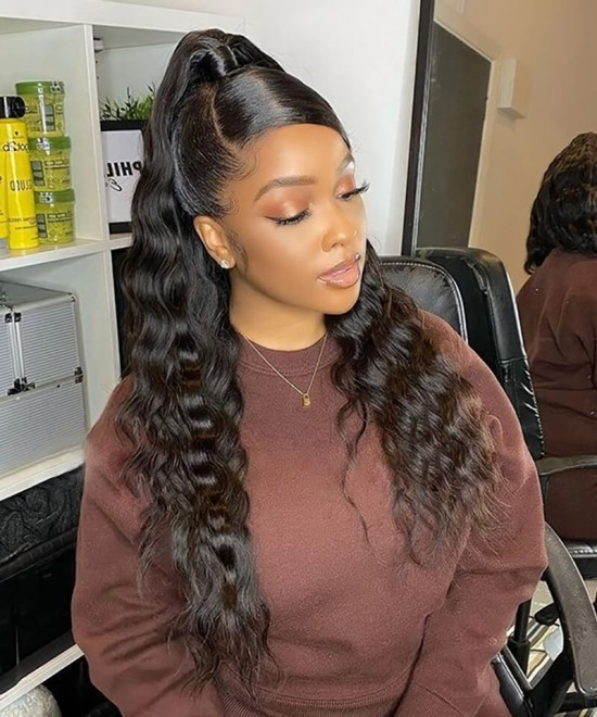 360 human hair lace frontal wigs for women with baby hair