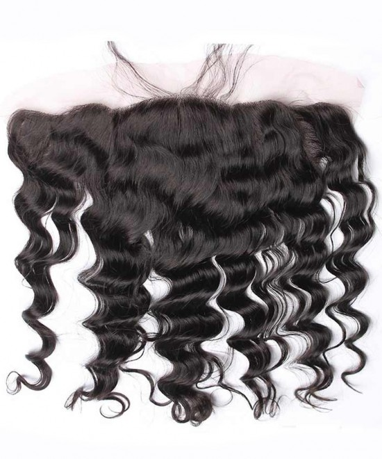 Dolago Pre Plucked 13x4 Ear to Ear lace frontal  Loose Wave Bleached Knots