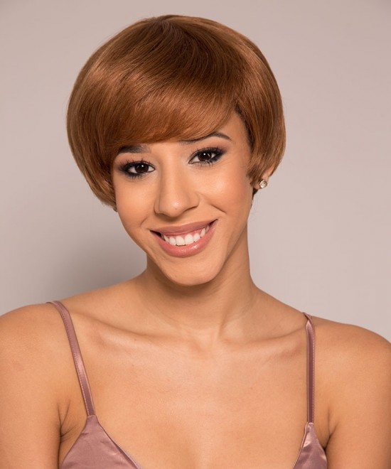 Dolago Pixie Wigs With Color 30 None Lace Cut Bob Front Wigs Short Human Hair Pixie Wigs Free Shipping