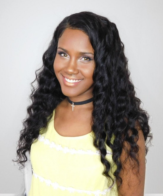 Loose Wave 360 Lace Frontal Wig Pre Plucked With Baby Hair Brazilian Lace Front Human Hair Wigs 180% Density