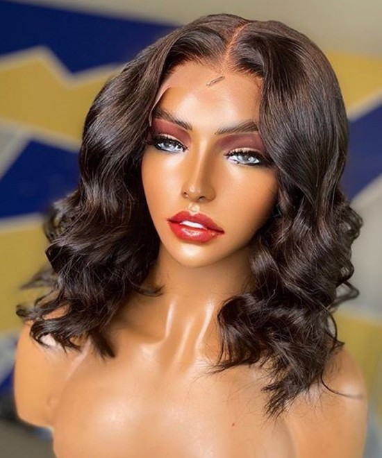 Dolago Hair Wigs Customized Style Natural Wave 13x6 Lace Front Wigs With Baby Hair Pre Plucked 150% Density 10A Virgin Brazilian Human Hair Wigs For Black Women