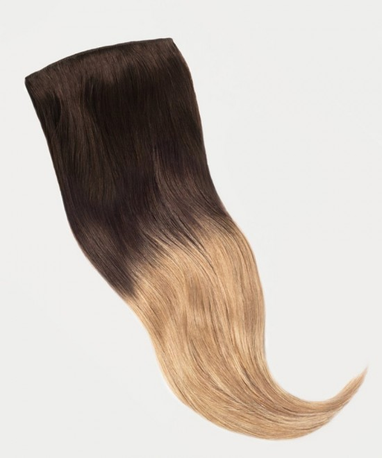 Dolago Clip in Human Hair Extensions Ombre Blonde Color 120g 7pcs/set