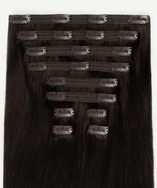 Dolago Clip in Human Hair Extensions Ombre Chestnut Color 120g 7pcs/set