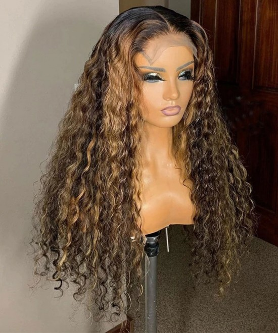 quality colorful ombre lace closure human hair wigs for women