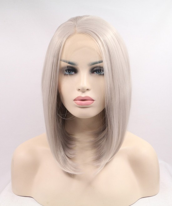Dolago Stunning Blonde Synthetic Wig Short Wig Lace Front Wig