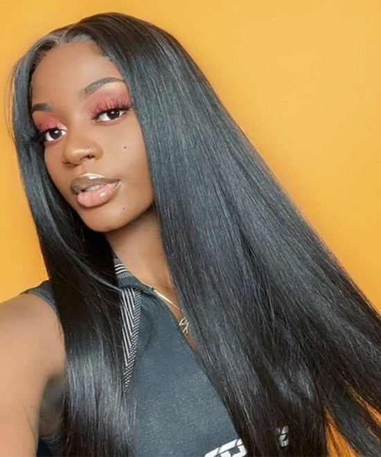 Dolago Hair Wigs Straight 360 Invisilace Lace Wig Pre Plucked With Baby Hair Natural Hairline Brazilian Human Virgin Hair Wigs