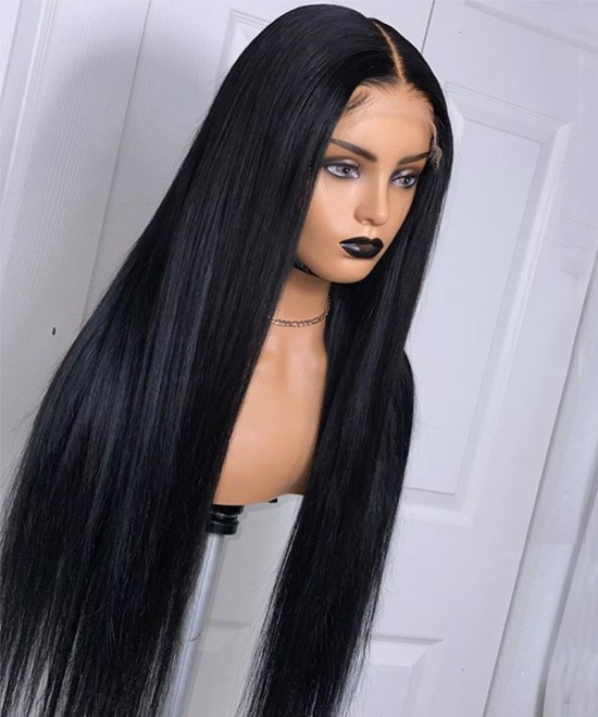 Best quality silk straight invisible full lace wigs for sale now