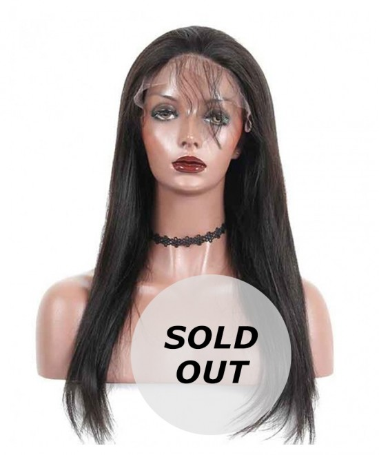 Dolago Light Yaki Pre Plucked Full Lace Human Hair Wigs 130%density 18inch