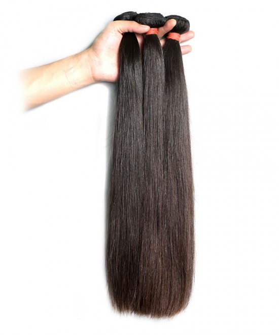 Dolago 100% Human Hair Bundles 8''-30'' Peruvian Virgin Hair Human Hair Weave Straight Hair Extension